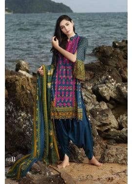 Al Zohaib Embroidered Lawn Unstitched 3 Piece Suit MN17E 8B