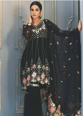 Mohagni Embroidered Chiffon Unstitched 3 Piece Suit MO18C 06 - Luxury Collection