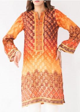 Mohagni Jacquard Printed Women Kurtis -  MO20P D-07 Orange