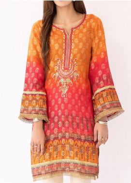 Mohagni Jacquard Printed Women Kurtis -  MO20P D-09 Orange