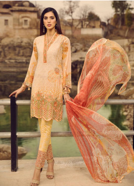 Mohagni Embroidered Lawn Unstitched 3 Piece Suit MOG19S 03 - Spring / Summer Collection