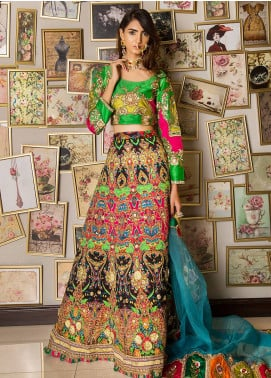 Momal Khan Embroidered Stitched Bridal Suit MK-02B Swarthy
