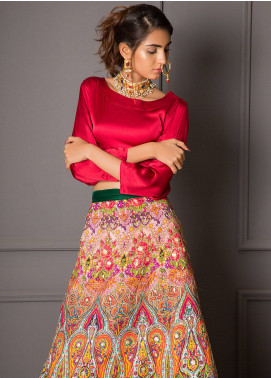 Momal Khan Embroidered  Stitched Bridal Suit MK-03B Floral Dusk
