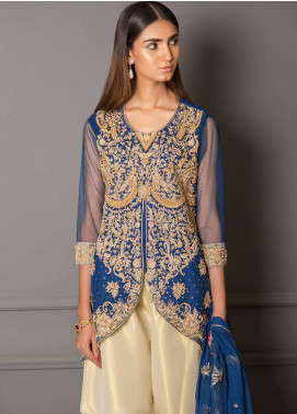 Momal Khan Embroidered Stitched Bridal Suit MK-03B Frostine