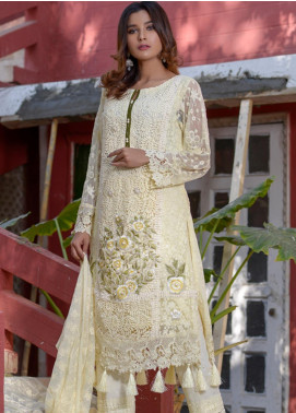 Zohan Textile Embroidered Chiffon Unstitched 3 Piece Suit ZT20MS 1 - Luxury Collection