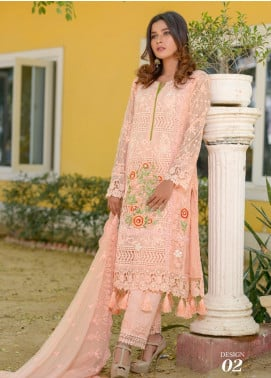 Zohan Textile Embroidered Chiffon Unstitched 3 Piece Suit ZT20MS 2 - Luxury Collection