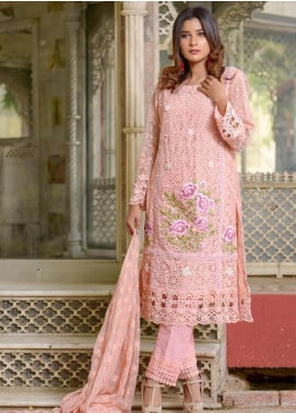 Zohan Textile Embroidered Chiffon Unstitched 3 Piece Suit ZT20MS 3 - Luxury Collection