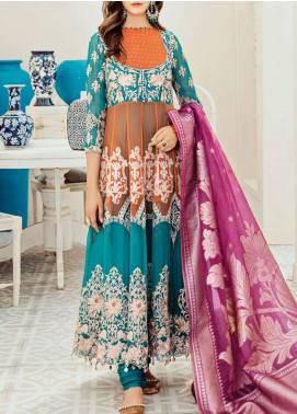 Mon Tresor Imrozia by Serene Premium Embroidered Chiffon Unstitched 3 Piece Suit IMP20MT I-115 BEBE - Luxury Collection