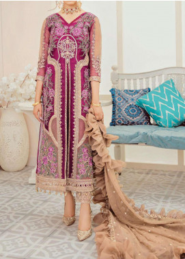Mon Tresor Imrozia by Serene Premium Embroidered Organza Unstitched 3 Piece Suit IMP20MT I-118 ETOILE - Luxury Collection