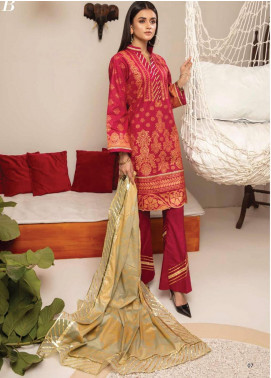 Monsoon by Al Zohaib Banarsi Cambric Unstitched 3 Piece Suit AZ20MS 1B - Winter Collection