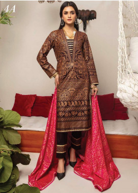 Monsoon by Al Zohaib Banarsi Cambric Unstitched 3 Piece Suit AZ20MS 4A - Winter Collection
