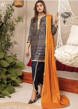 Monsoon by Al Zohaib Banarsi Cambric Unstitched 3 Piece Suit AZ20MS 4C - Winter Collection