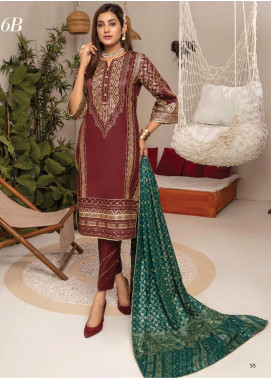 Monsoon by Al Zohaib Banarsi Cambric Unstitched 3 Piece Suit AZ20MS 6B - Winter Collection