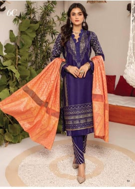 Monsoon by Al Zohaib Banarsi Cambric Unstitched 3 Piece Suit AZ20MS 6C - Winter Collection