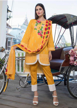Monsoon by Al Zohaib Printed Cambric Unstitched 3 Piece Suit MN19C 6A - Winter Collection
