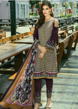 Monsoon by Al Zohaib Printed Cambric Unstitched 3 Piece Suit MN19C 8C - Winter Collection