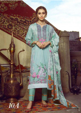 Monsoon by Al Zohaib  Printed Lawn Unstitched 3 Piece Suit AZ20M-10A - Summer Collection