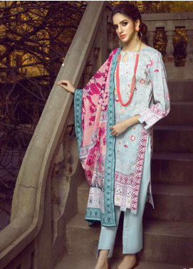 Monsoon by Al Zohaib  Printed Lawn Unstitched 3 Piece Suit AZ20M-2B - Summer Collection