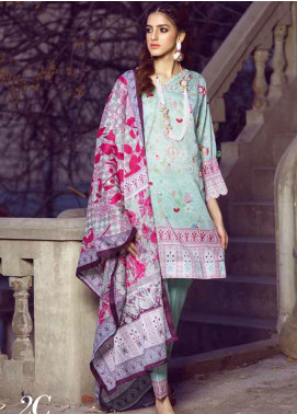 Monsoon by Al Zohaib  Printed Lawn Unstitched 3 Piece Suit AZ20M-2C - Summer Collection