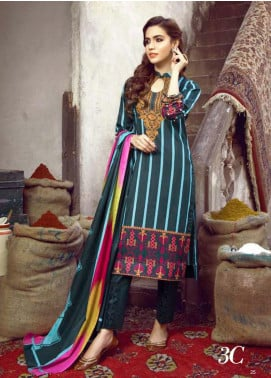 Monsoon by Al Zohaib  Printed Lawn Unstitched 3 Piece Suit AZ20M-3C - Summer Collection