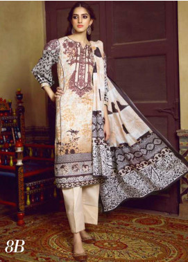 Monsoon by Al Zohaib  Printed Lawn Unstitched 3 Piece Suit AZ20M-8B - Summer Collection