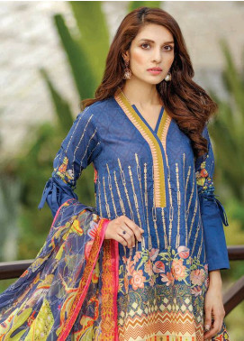 Peridot Embroidered Lawn Unstitched 3 Piece Suit PD18L 110 - Spring / Summer Collection