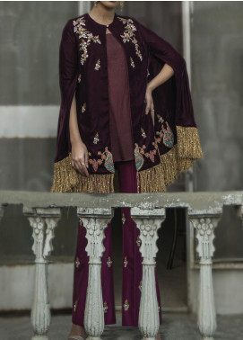 Fayon Embroidered Velvet Stitched 2 Piece Suit FN-M105 Oeuvre
