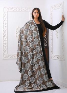 Mosaic Embroidered Woolen  Shawl MC20SH MS-08 - Woolen Shawls