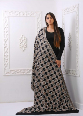Mosaic Embroidered Woolen  Shawl MC20SH MS-09 - Woolen Shawls