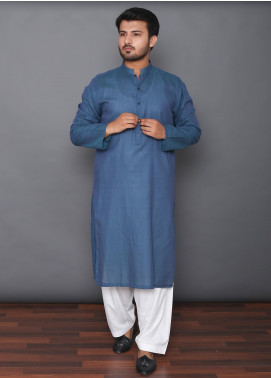 Mosaic Cotton Formal Kurtas for Men -  3309 Blue
