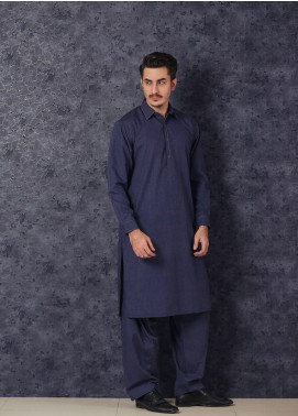 Mosaic Winter Wash N Wear Formal Men Kameez Shalwar -  BON BON Blue