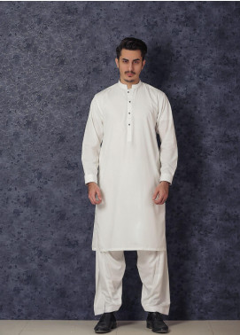 Mosaic Winter Wash N Wear Formal Kameez Shalwar for Men -  CAPRICON Off White
