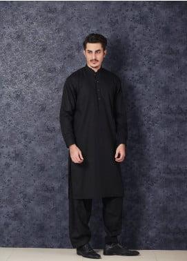 Mosaic Winter Wash N Wear Formal Kameez Shalwar for Men - CHAMPION Black