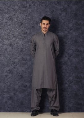 Mosaic Winter Wash N Wear Formal Kameez Shalwar for Men -  CHAMPION Grey