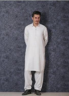 Mosaic Wash N Wear Formal Kameez Shalwar for Men -  D-102 Off White