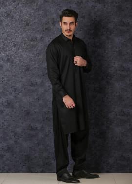 Mosaic Wash N Wear Formal Men Kameez Shalwar -  D-17 Black