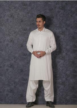 Mosaic Wash N Wear Formal Men Kameez Shalwar - D-17 Off White