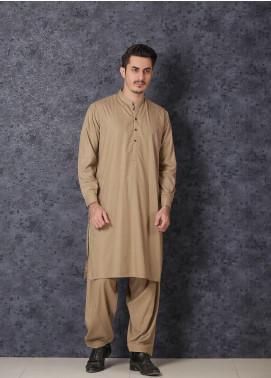 Mosaic Wash N Wear Formal Kameez Shalwar for Men - D-18 Golden