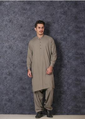 Mosaic Wash N Wear Formal Kameez Shalwar for Men - D-18 Olive