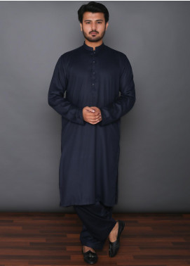 Mosaic Wash N Wear Formal Men Kameez Shalwar -  MD 101 Blue