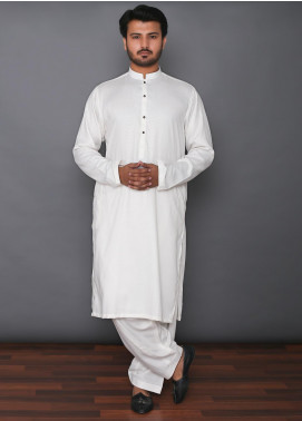 Mosaic Wash N Wear Formal Kameez Shalwar for Men -  MD 101 Off White