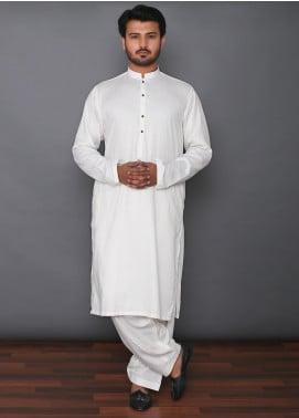 Mosaic Wash N Wear Formal Kameez Shalwar for Men - MD 101 Off White