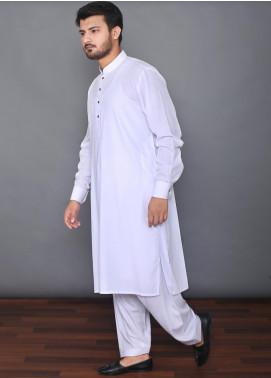 Mosaic Wash N Wear Formal Men Kameez Shalwar - MOS-02 White