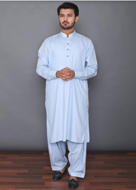 Mosaic Wash N Wear Formal Men Kameez Shalwar -  MOS-04 Sky Blue