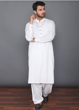 Mosaic Wash N Wear Formal Men Kameez Shalwar -  MOS-06 Off White