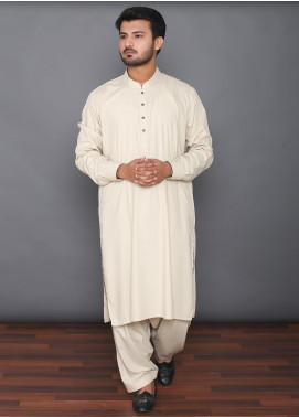 Mosaic Wash N Wear Formal Kameez Shalwar for Men -  MOS-07 Fawn