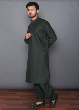Mosaic Wash N Wear Formal Kameez Shalwar for Men -  MOS-09 Dark Green