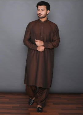 Mosaic Wash N Wear Formal Men Kameez Shalwar -  MOS-10 Rust