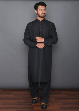 Mosaic Wash N Wear Formal Kameez Shalwar for Men -  MOS-11 Black