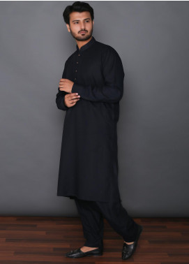 Mosaic Wash N Wear Formal Kameez Shalwar for Men -  MOS-13 Navy Blue